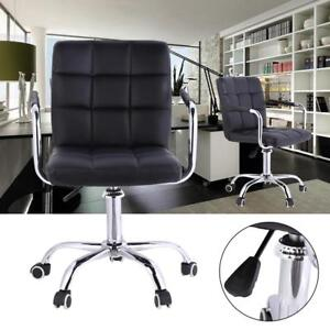 Swivel Office Chair Pu Leather Business Home Adjustable Computer Desk Armchair