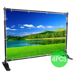 4pcs Banner Stand Promotion Studio 8 x 8 To 10 X 8 Trade Promotion Excellent