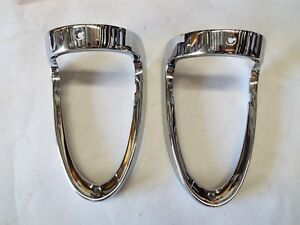 55 1955 Chevrolet Chevy Taillight 2 New Bezels Bel Air 210 150 Nomad Station