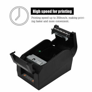 Pos80cc 80mm Esc Pos Usb Thermal Printer Receipt Ticket Barcode Us eu uk Plug