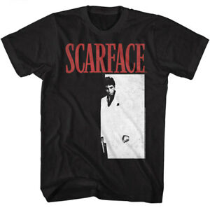 Scarface Tony Montana Men#x27;s T Shirt Movie Poster Pacino Vintage Black Gangster $19.50