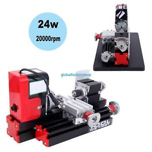 Portable Metal Mini Lathe Metalworking Woodworking Power Tool Turning Machine