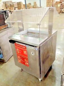 Beverage Air Stainless Refrigerated Prep Station W Sneeze Guard Model Spe27 711
