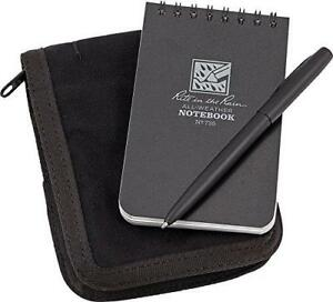 Rite In The Rain All weather 3 X 5 Top spiral Notebook Kit Black Cordura