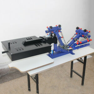 3color Screen Printing Press Printing Machine With Flash Dryer Combined Printer