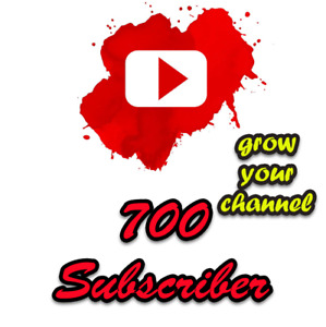 700 Subs For Your Youtube Channel Only 46 99