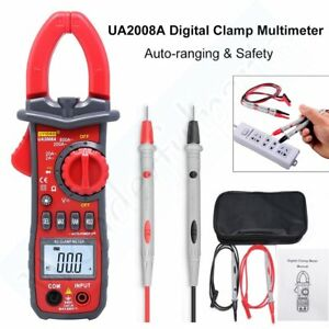 Ua2008a Auto Handheld Digital Clamp Multimeter Tester Ac dc Voltage Lcd Display