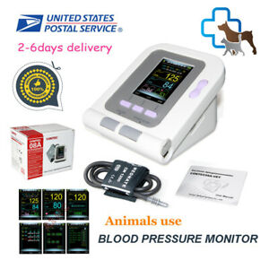 Usa Stock contec08a Vet Veterinary Digital Blood Pressure Monitor nibp Machine
