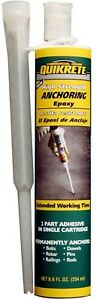 Quikrete 8 6 Oz High Strength Anchoring Epoxy