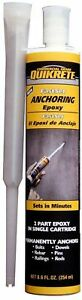 Quikrete 8 6 Oz Fast setting Anchoring Epoxy
