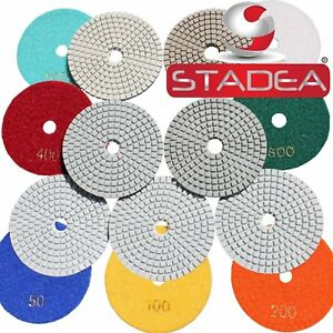 Stone Marble Granite Diamond Polishing Pads For Stone Concrete Terrazzo 10 Pcs