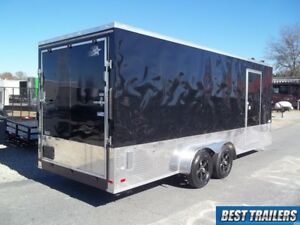 Sport Package 7 X 20 Enclosed 2 Side By Side Motorcycle Trailer Cargo 7x20 Utv