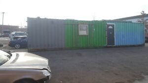 40 Shipping Container Office Trailer Storage 40 Foot W Door Tiny Home Cabin