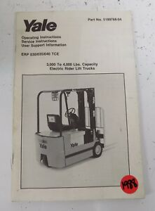 1988 Yale Lift Truck Operating Manual 5189768 04 S24a