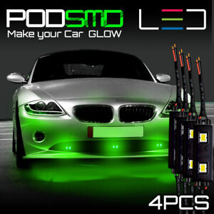 Rock Neon Lights Underbody Green Led Under Car Glow Accent Kit For Honda Civic