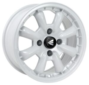 15x8 Enkei Compe 4x114 3 Et0 White Wheels Set Of 4