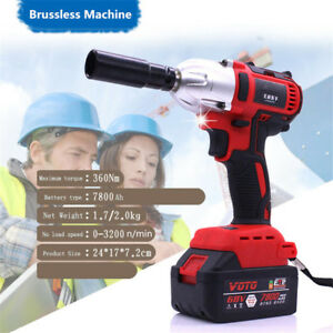 Square Drive Milwaukee Fuel Impact Wrench Cordless Brushless Electric 360n M 68v