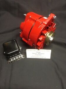 1966 71 Oldsmobile Toronado 135 Amp High Output Alternator Powdercoated Red
