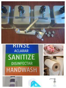 4 Compartment Portable Concession Sink 3 Large 1 Hand Wash Drain Kit