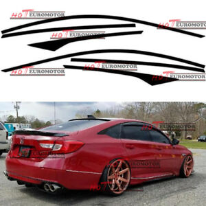 Mb Side Window Sticker Decal For 2018 Honda Accord Chrome Trim Blackout Overlay