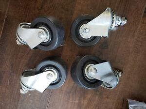 Caster Wheel Set For Stainless Steel Commercial Kitchen Prep Tables