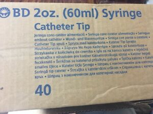 80 Bd Syringes 2 Oz 60 Ml Cc Catheter Tip With Cap 309620 Feeding Syringe