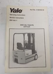1986 Yale Lift Truck Operating Manual 5195968 02 S24a