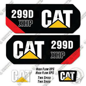 Caterpillar 299d Xhp Decal Kit Equipment Decals 299 D Xhp