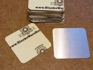 50 Pieces Aluminum Sublimation Blanks 2 5 x 2 5 With 0 25 Rounded Corners