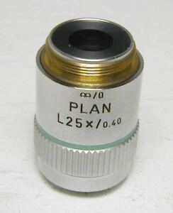Leitz Plan 25x Infinity corrected Microscope Objective Excellent Condition