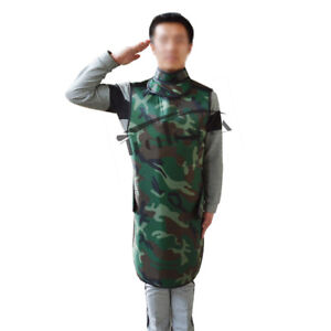 Camouflage 0 35mmpb Lead Free Protection Apron For X ray With Collar Medium Size
