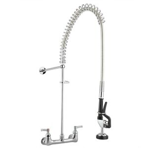 Commercial Pre rinse Kitchen Sink Faucet Pull Down Sprayer Mixer Tap