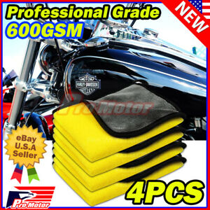 Bulk Pack Microfiber Cleaning Cloth No Scratch Rag Car Polishing Detailing Towel