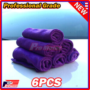 Purple Microfiber Cleaning Cloth No Scratch Rag Car Polishing Detailing Towel P1