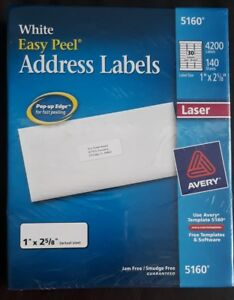 Avery Easy Peel White Address Labels For Laser Printers 5160 1 X 2 5 8
