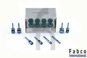 8 Pcs Dental Trephine Dtill Kit For Implant Surgical Surgery