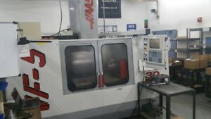 Used Haas Vf 5 50 Taper Cnc Vertical Machining Center Mill 50x26 Vmc 30hp 1998