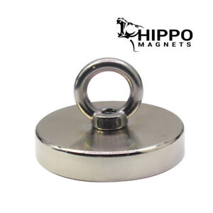900 Lbs Pull Force Strong Neodymium Round Hippo Fishing Magnet 1000 Recovery