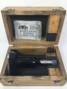 Fowler Bowers Holmike Internal Micrometer 5 6 Range Anvils And Case