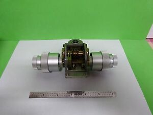 Microscope Part Leitz Germany Ortholux Ii Mechanism Stage Knobs As Is Bn y4 04