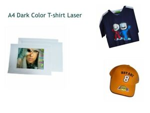 A4 T shirt Laser Print Transfer Paper Dark Color Fabric Cotton Printable Paper