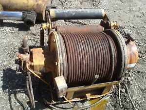 Grove Crane Hoist Hydraulic Winch W Some Cable Mod Ho 15d16949 Used