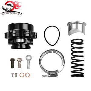 Car Turbo Blow Off Valve Bov Vband Flange Spring 5 80 18 85 Psi 50mm Black