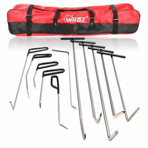 Set 11x Auto Body Dent Removal Car Rods Tool Kit Hail And Door Ding Repair