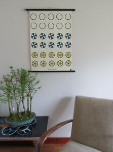 Vintage Educational Wall Chart Of Fractions Roll Down School Chart Mathematics