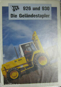 Excavator Mobile Brochure note Book Info Jbc Construction Machinery 926 930