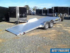 2018 Aluma 8220 Ht Gravity Tilt Equipment Carhauler Trailer Aluminum Special