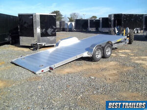 2020 Aluma 8220 Ht Gravity Tilt Equipment Carhauler Trailer Aluminum Special