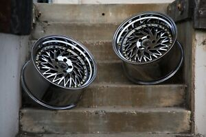 Aodhan Ds03 18x10 5 15 5x114 3 Black Chrome Fits Rx7 Rx8 300zx Mustang Stance