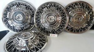 Lot Of 4 Chevy Gm General Motors Nos Wire Wheel Hubcaps 14 15